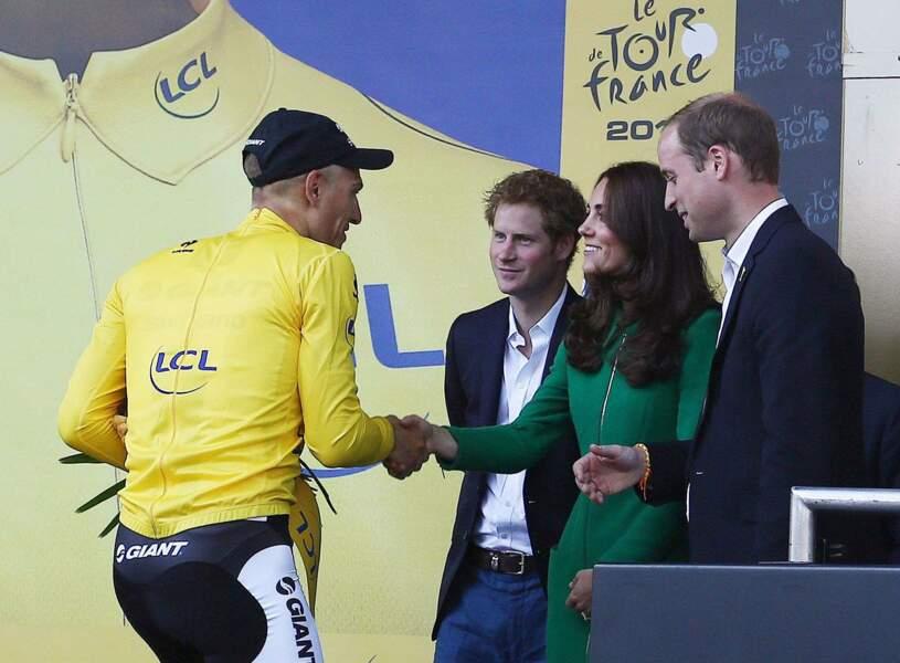 En juillet 2014, le Tour de France est inauguré par le couple et Harry en Angleterre