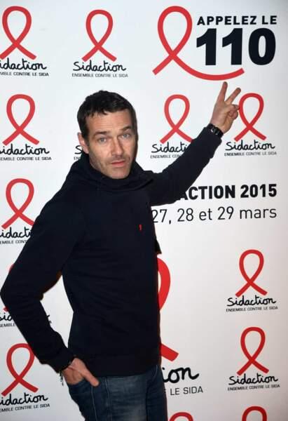 Marc-Emmanuel Dufour lors de la conférence de presse du Sidaction le 2 mars 2015