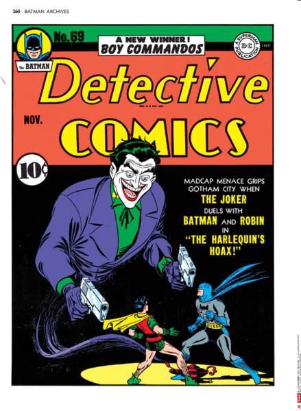 Le Joker en couverture du numéro 69 de The Batman Detective Comics (1942)
