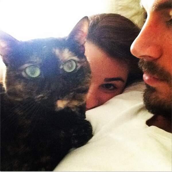 Sinon, le chat de Lea Michele nous souhaite un Joyeux Noël (on est ravi !)