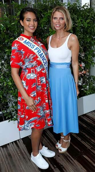 Les belles Vaimalama Chaves et Sylvie Tellier ont mêlé décontraction et élégance à Roland
