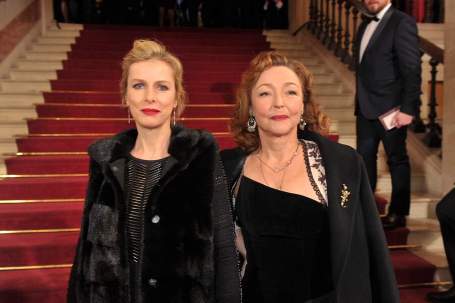 Les actrices Karin Viard et Catherine Frot