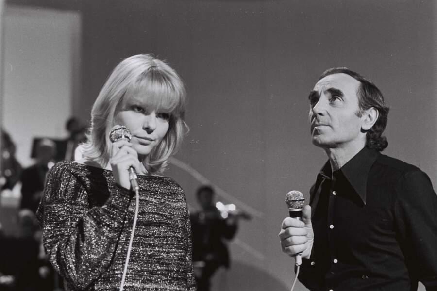 Avec France Gall dans l'émission Numéro Un en 1976