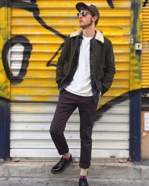 Norman Thavaud s'est cru à la Fashion Week de Milan.