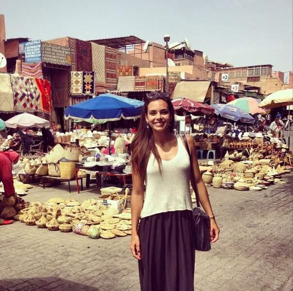 Fini les examens, Marine Lorphelin était au Maroc pour le Marrakech du Rire