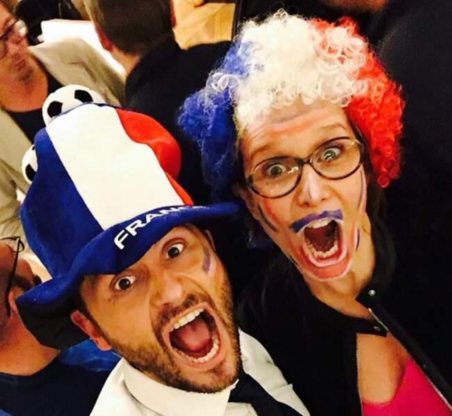 Et Christophe Beaugrand et Carole Rousseau, au taquet pour le match de la France contre l'Albanie.