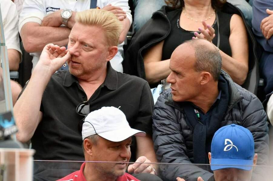 Un peu plus tôt, Boris Becker, présent dans les gradins, avait honoré le match d'un geste peu raffiné.