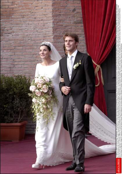 Le 25 septembre 2003, au bras d'Emmanuel Philibert, la comédienne Clotilde Courau devenait princesse de Savoie