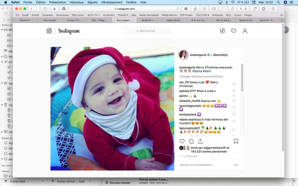 Le plus adorable des Père Noël : le fils d'Eva Longoria
