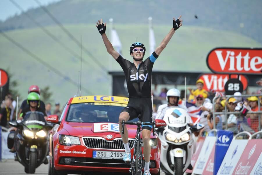 La première victoire d'étape de Chris Froome à Ax 3 Domaines