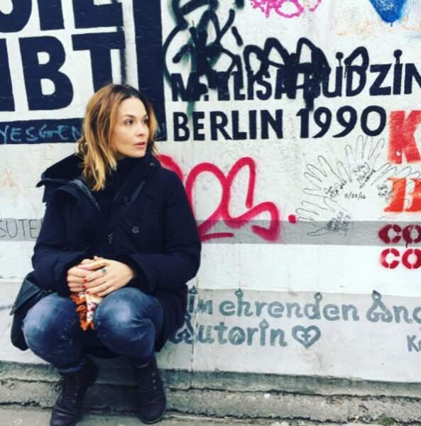 Barbara Schulz affrontait le froid berlinois.