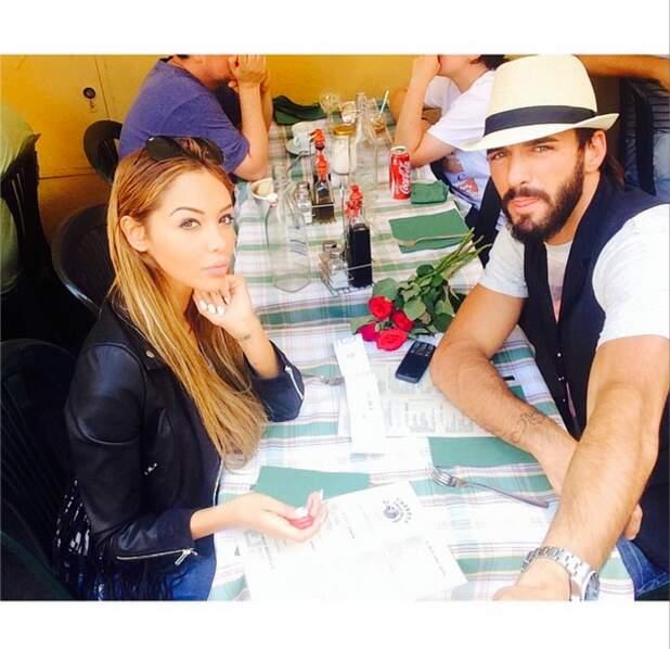 Déjeuner en amoureux pour Nabilla et son Thomas, toujours in love !