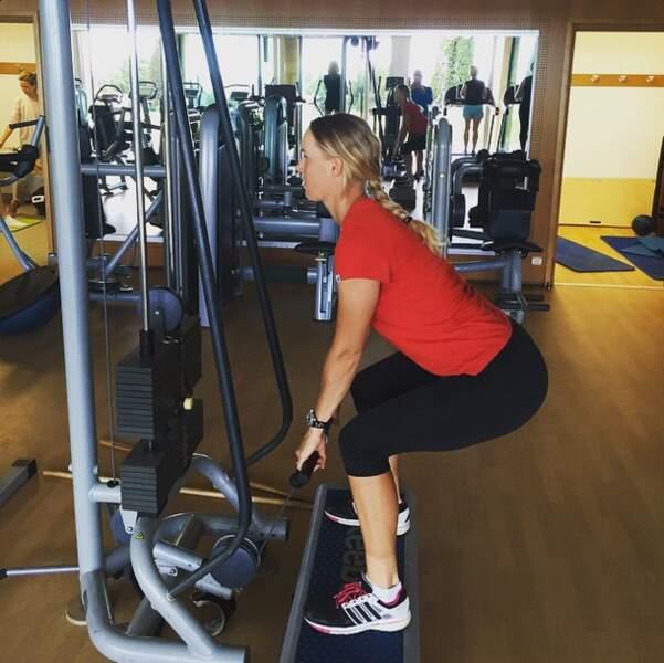 Mais elle n'oublie pas de s'entraîner pour Roland-Garros !