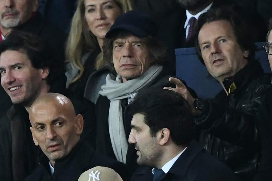 La star des Stones Mick Jagger n'a rien manqué du spectacle
