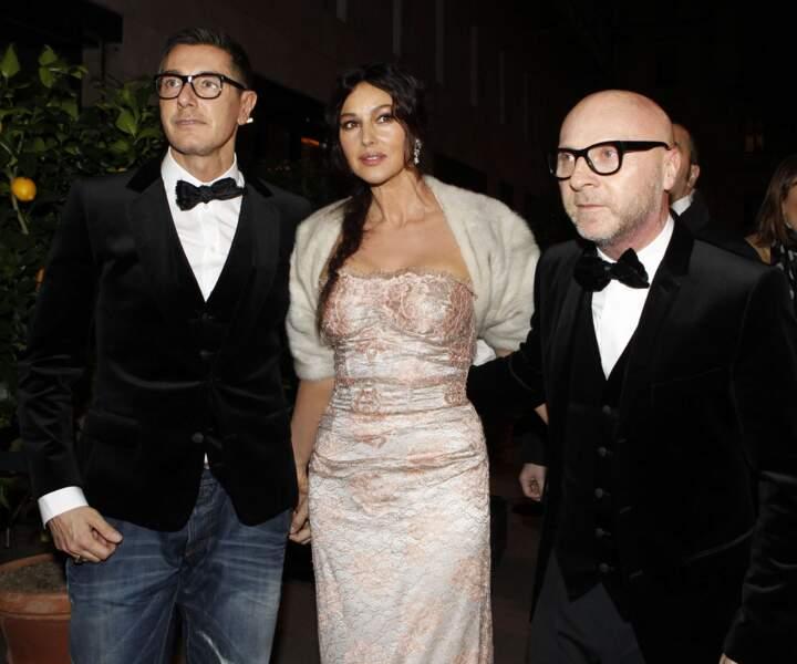 Monica Belluci, mannequin star de Dolce & Gabbana dans les années 90, recollabore avec eux depuis peu.
