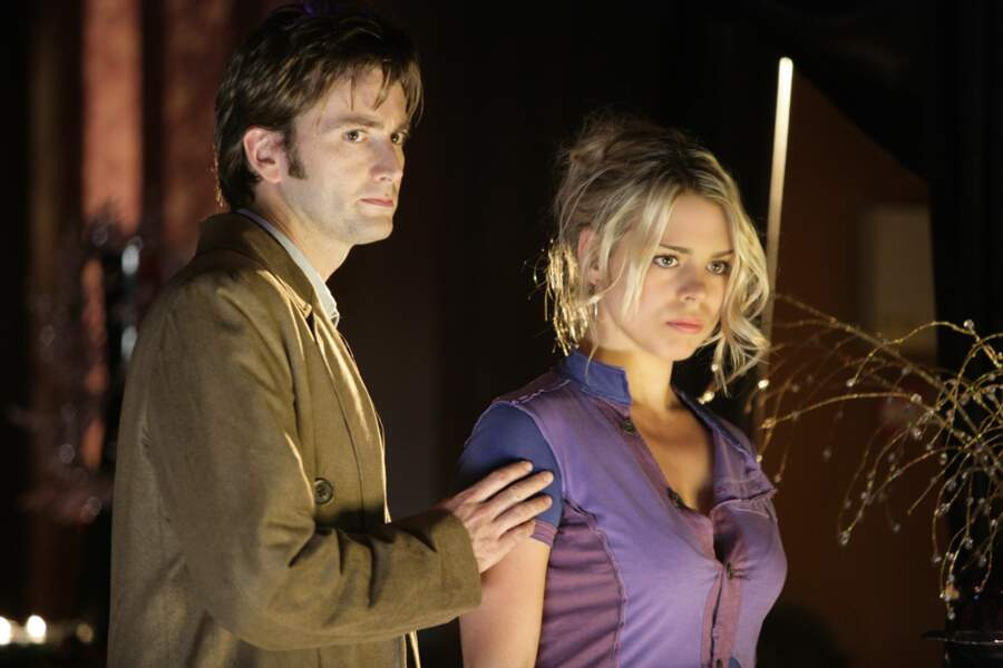 David Tennant et sa fiancée Billie Piper (Rose Tyler)