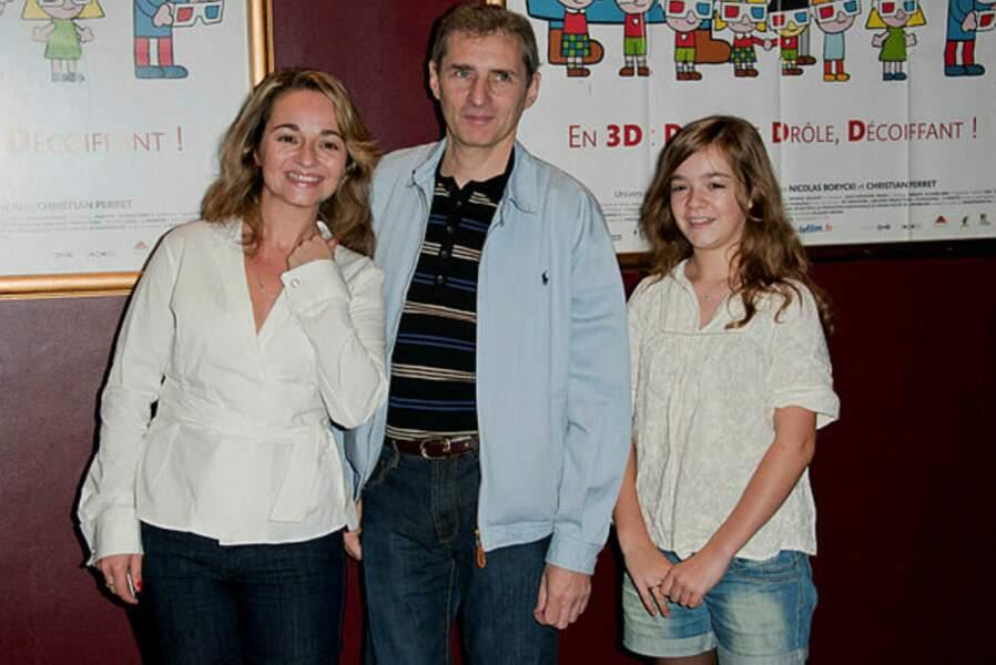 """Barbara Tissier, ici avec le réalisateur Jean-Christophe Roger et la jeune Camille (AVP """"Allez Raconte"""")"""