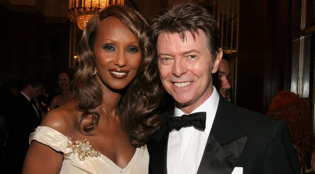 Iman et David Bowie, décédé le 10 janvier 2016.