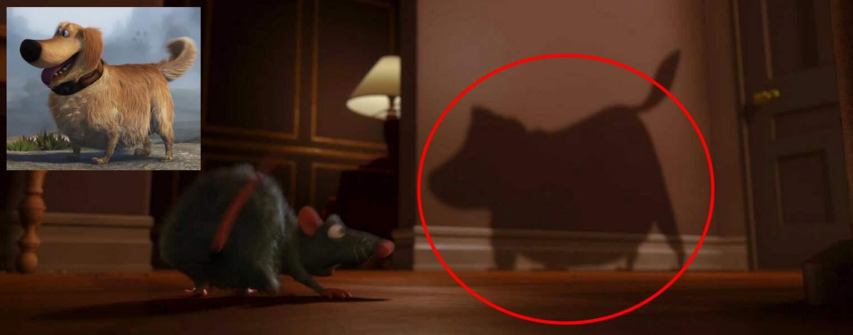 Ratatouille : Rémy effrayé par Doug le chien lors de son arrivée à Paris