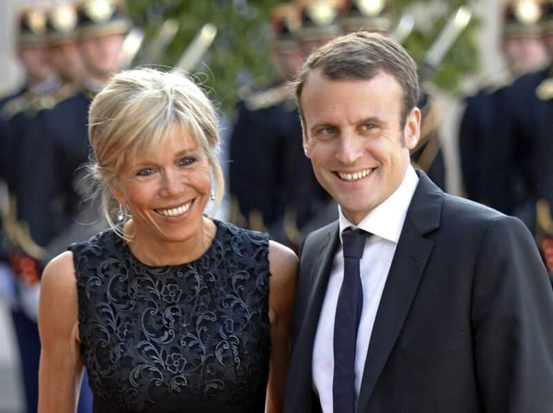 Voici Brigitte Trognieux, l'épouse d'Emmanuel Macron, ministre de l'Économie
