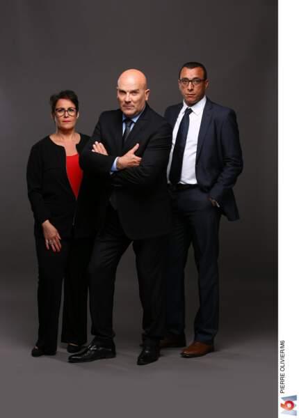 Bruno Bonnell et ses deux bras droits, Salim Azouzi et Nathalie Cayuela