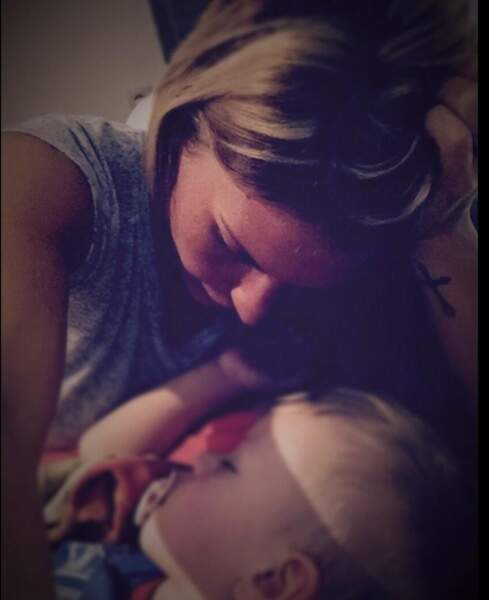 Amélie Neten et son petit Hugo sont toujours aussi adorables !