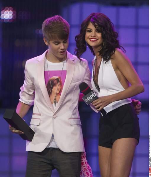 Justin Bieber et Selena Gomez, quand ils étaient encore ensemble.