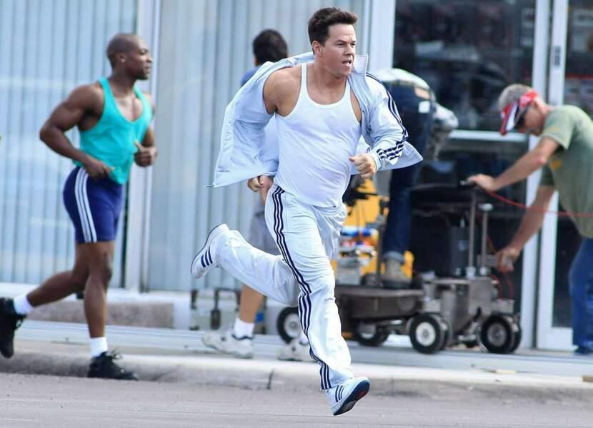 Piquer un petit sprint ? Facile pour Mark Wahlberg...