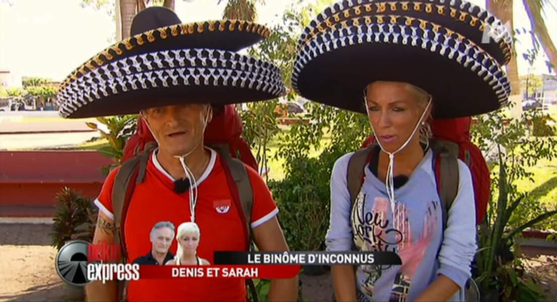 Punition pour Denis et Sarah : ils vont devoir porter 5 sombreros chacun !