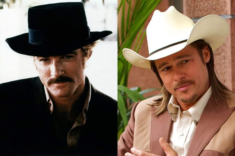 Moustachus : Robert Redford dans Butch Cassidy et le Kid. Brad Pitt dans Cartel