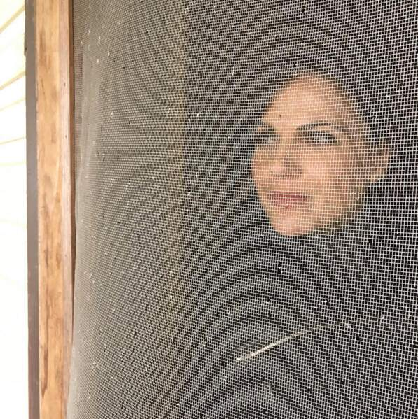 Lana pendant un tournage de la série Once Upon a Time.