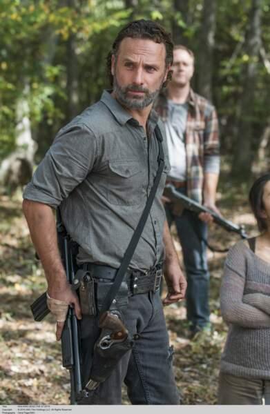 Rick est l'un des héros de la série The Walking Dead