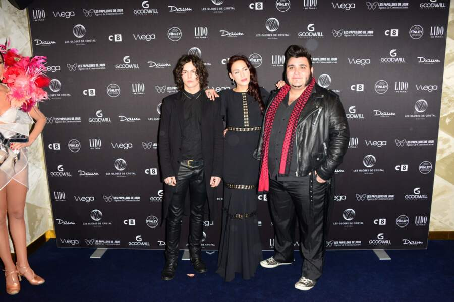 La troupe du Rouge et le Noir : Come, Haylen, Yoann Launay, tous issus de The Voice