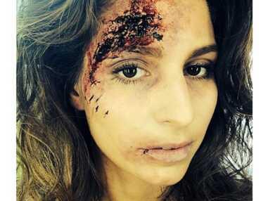 Twitter : Laury Thilleman balafrée...pour un rôle, le tatouage de Caroline Receveur