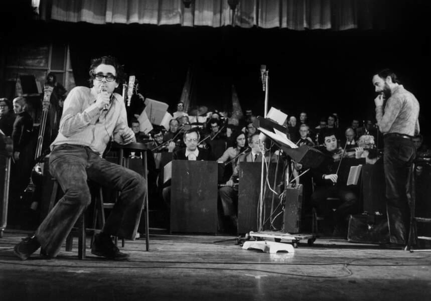 Michel Legrand en répétition à l'Olympia le 17 janvier 1972