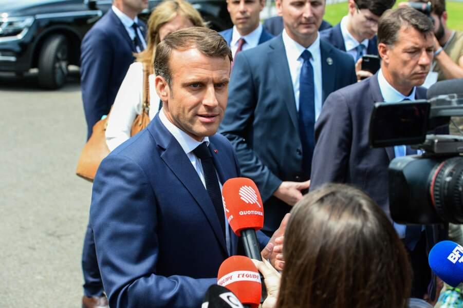 Emmanuel Macron était également attendu par de nombreux journalistes