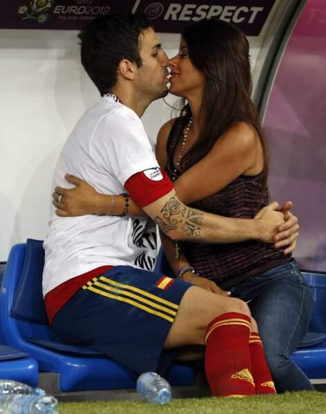 L'Espagnol Cesc Fabregas et Daniella Semaan fortement un couple heureux...