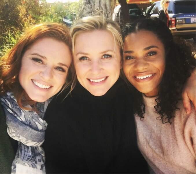 Sarah Drew partage l'un de ses derniers déjeuners avec Jessica Capshaw et Kelly McCreary (Maggie)