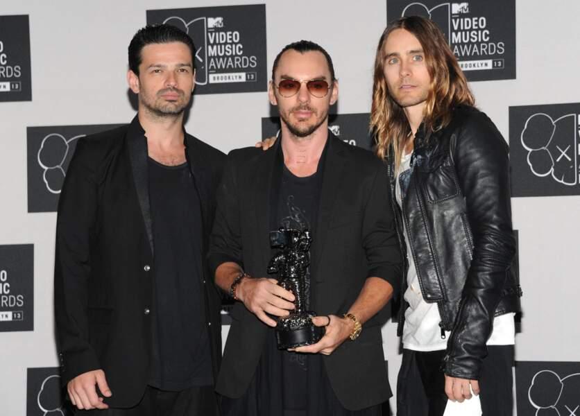 Le groupe rock 30 Seconds to Mars, mené par Jared Leto, est reparti avec une statuette.