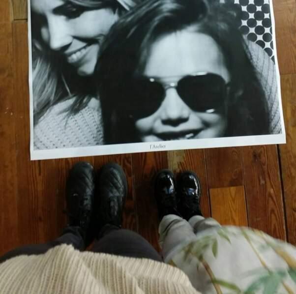 Séance photo pour Alexandra Rosenfeld et sa fille Ava.