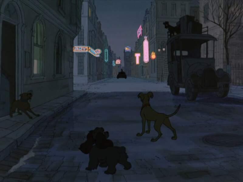 Pour échapper à Cruella, les Dalmatiens ont des alliés de taille : Lady et Jock de la Belle et le Clochard.