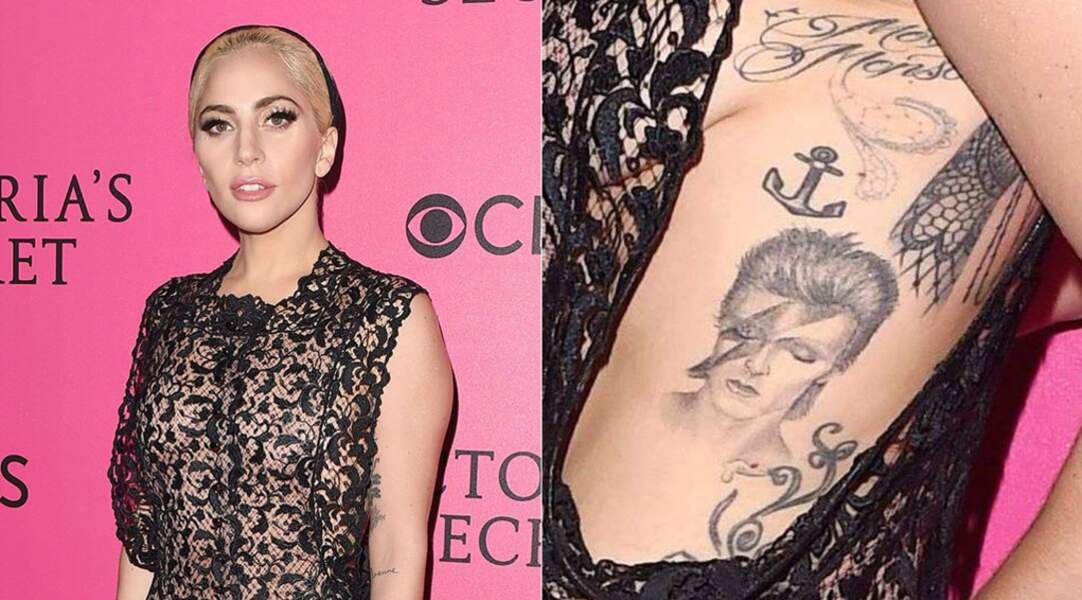 Adepte de tatouages, Lady Gaga arbore notamment un tattoo en l'honneur de David Bowie