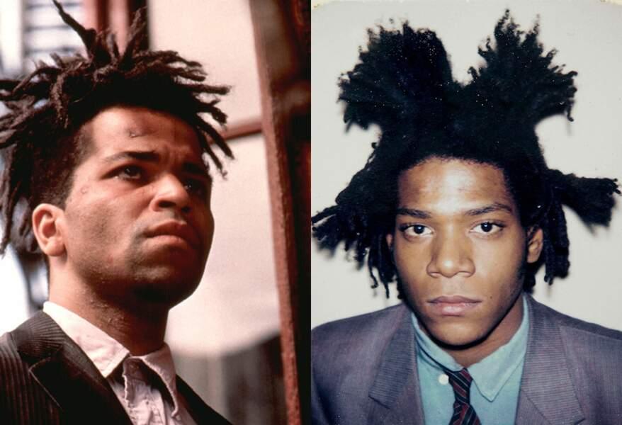 Il est Jean-Michel Basquiat, premier artiste noir à connaître la gloire, mais qui disparait trop tôt