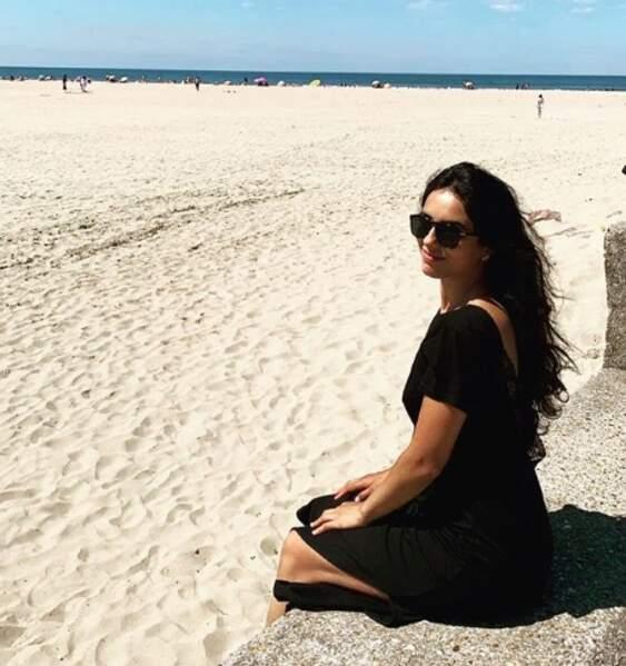 Hafsia Herzi a vu la mer à Deauville.