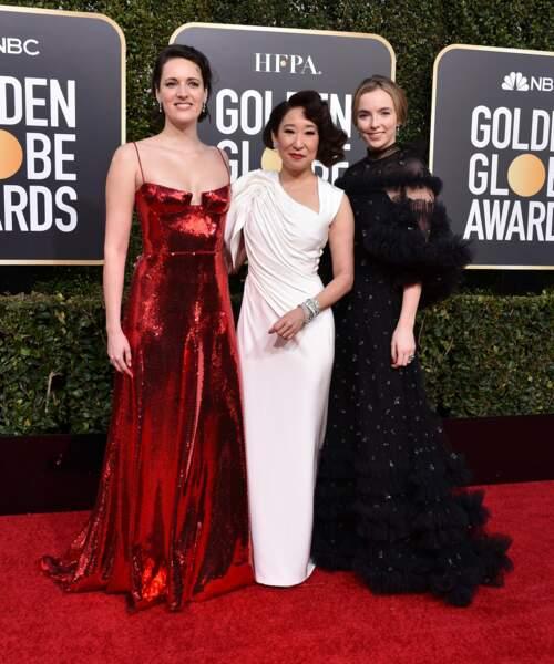 Phoebe Waller-Bridge, Sandra Oh et Jodie Comer, reines de la série Killing Eve