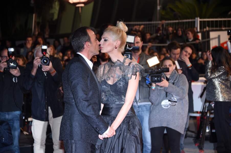Nikos Aliagas et sa femme sur le tapis rouge des NRJ Music Awards