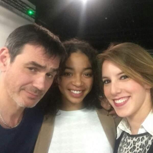 Jérôme Bertin, Manon Bresch et Léa François sont très complices.