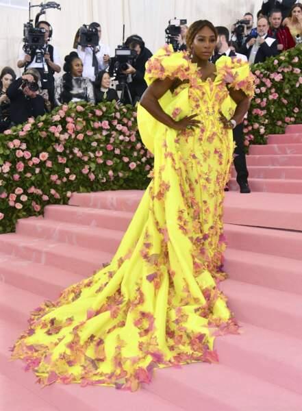 Serena Williams magnifique canari.