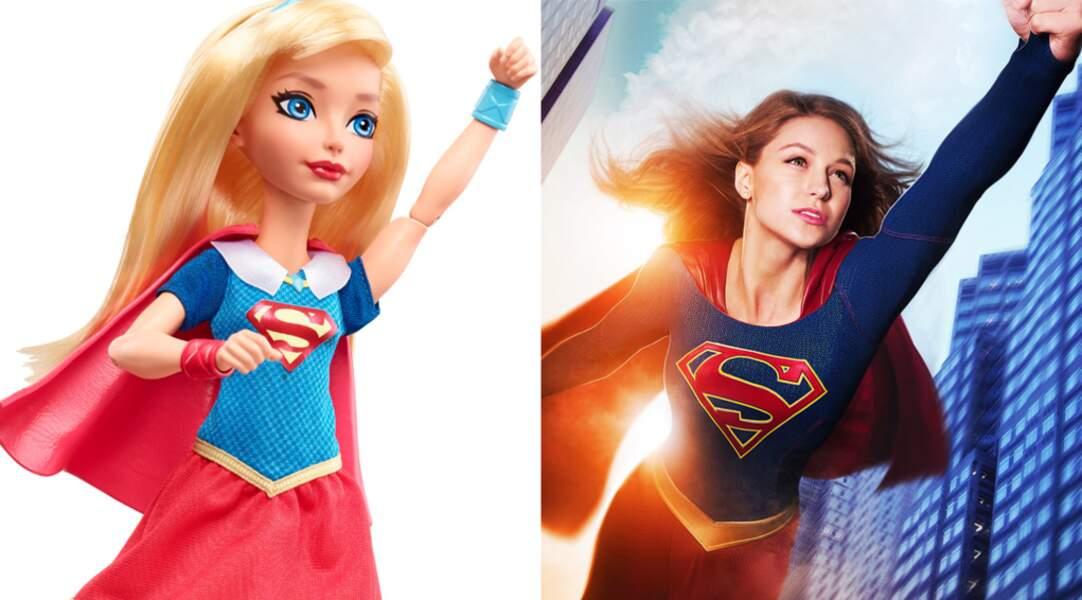 Palme de la ressemblance à la poupée SuperGirl, Melissa Benoist (l'héroïne dans la série) ne va pas en revenir !