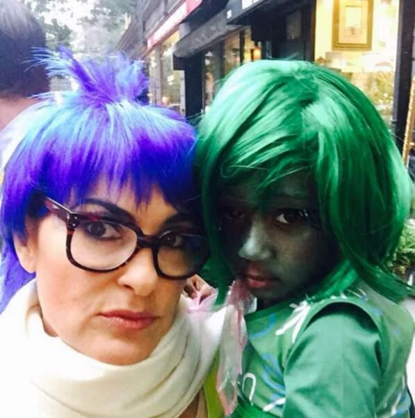 L'actrice Mariska Hargitay en Joie et sa fille en Dégoût du dessin-animé Pixar, Vice Versa